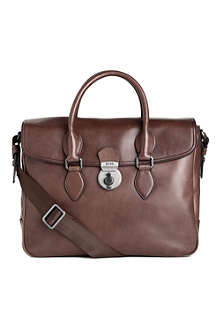 HUGO BOSS Shonia washed leather business bag
