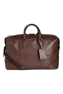 HUGO BOSS Sofri leather weekender