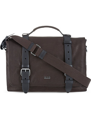 HUGO BOSS Leather continental messenger