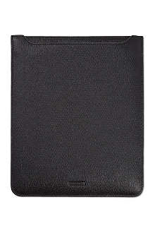 HUGO BOSS Grained leather iPad case