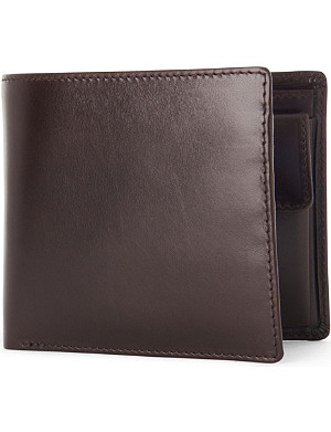 LAUNER Billfold wallet with coin pouch brown