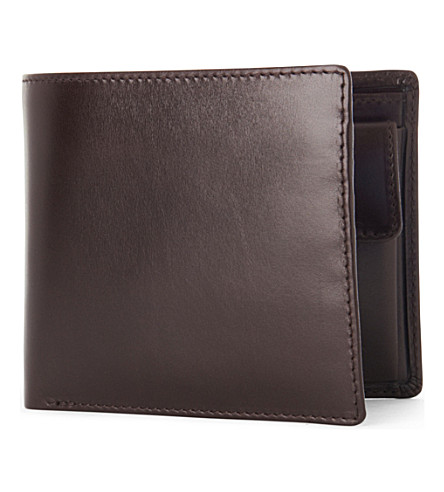 LAUNER Billfold wallet with coin pouch brown (Brown