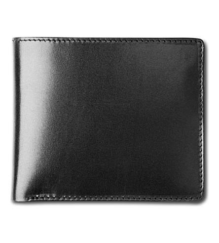 LAUNER Bifold leather wallet (Black/red