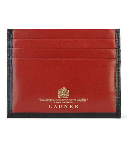 LAUNER Luxury card case (Black/red