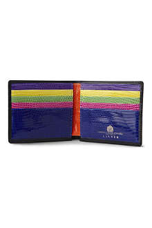 LAUNER Multicoloured lizard interior credit card wallet