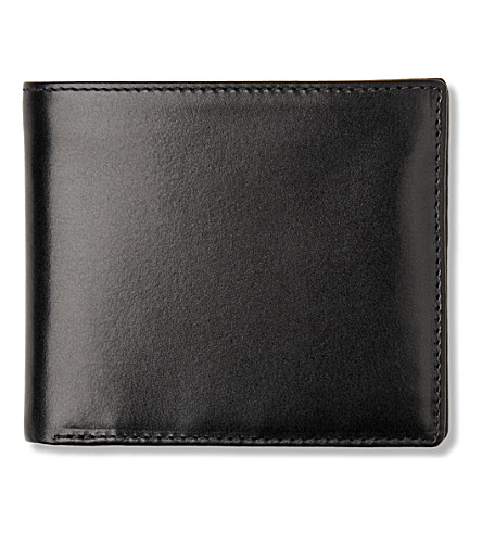 LAUNER Leather wallet with window (Black