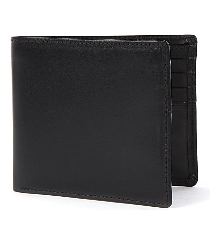 LAUNER Bifold leather wallet (Black