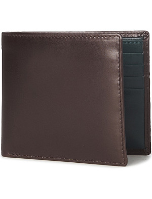 LAUNER Contrast–lining eight card billfold wallet