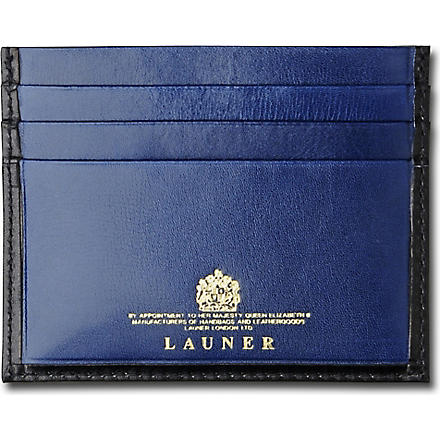 LAUNER Luxury card case (Black/blue