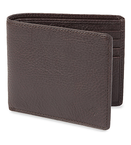 MULBERRY Embossed billfold wallet (Chocolate