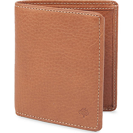 MULBERRY Mini tri-fold natural-leather wallet (Oak