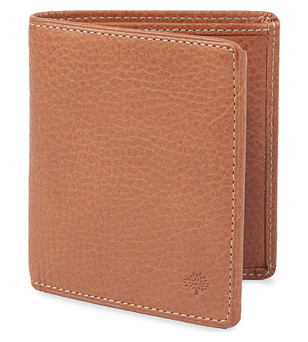 MULBERRY Mini tri-fold wallet (Oak