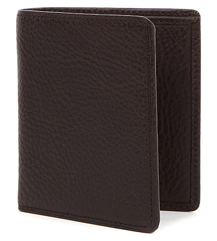 MULBERRY Mini tri-fold wallet (Chocolate