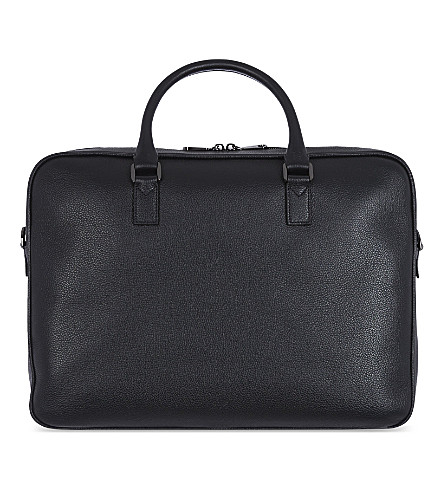 MULBERRY Theo Day leather document case (Black