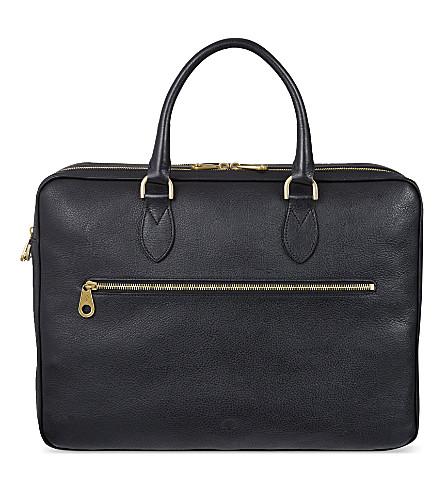 MULBERRY Leather Heathcliffe briefcase (Black