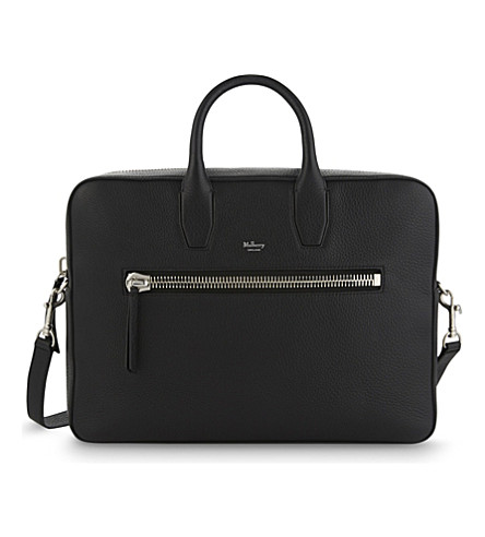 MULBERRY Kenrick grained leather briefcase (Black
