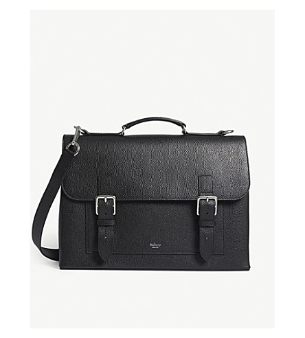 MULBERRY Chiltern leather briefcase (Black