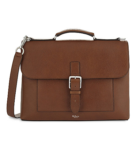 MULBERRY Chiltern leather briefcase (Oak