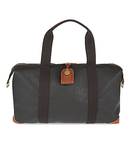 MULBERRY Scotchgrain small clipper bag (Black/cognac