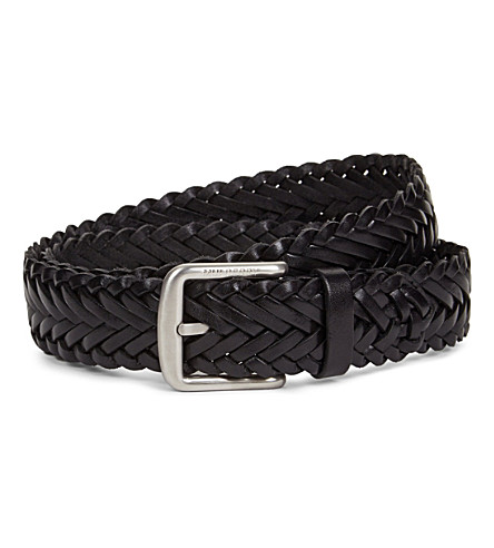 MULBERRY Braided leather belt (Black