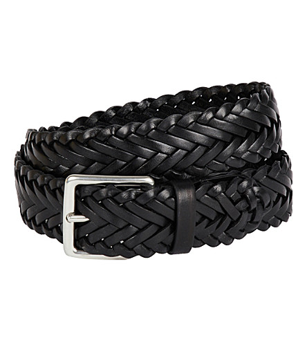 MULBERRY Braided leather belt (Black
