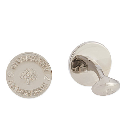 MULBERRY Button screw cufflinks (Silver