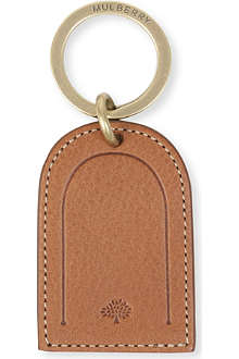 MULBERRY Leather tag key ring