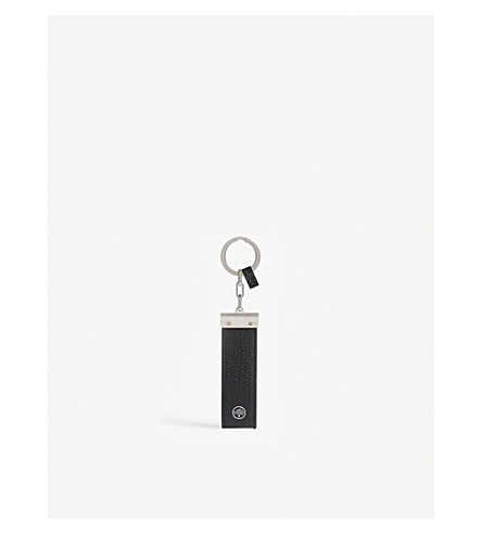 MULBERRY Pebbled leather keyring (Black