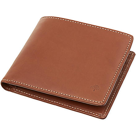MULBERRY Waxed leather billfold (Oak