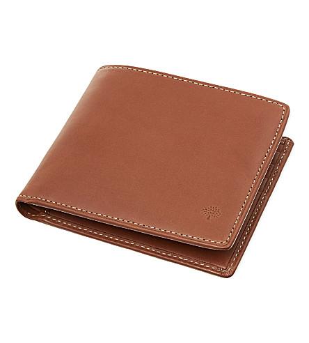 MULBERRY Waxed leather billfold (Oak