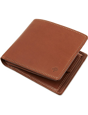 MULBERRY Natural waxed leather wallet