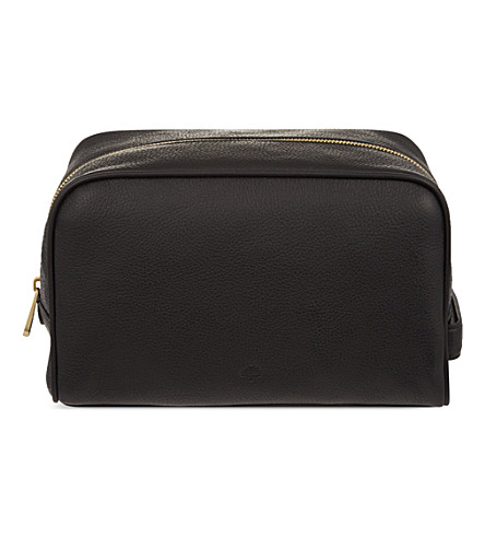 MULBERRY Leather wash bag (Black