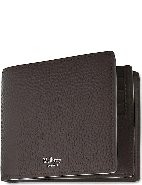 Mulberry mens selfridges shop online mulberry trifold grained leather card wallet reheart Gallery