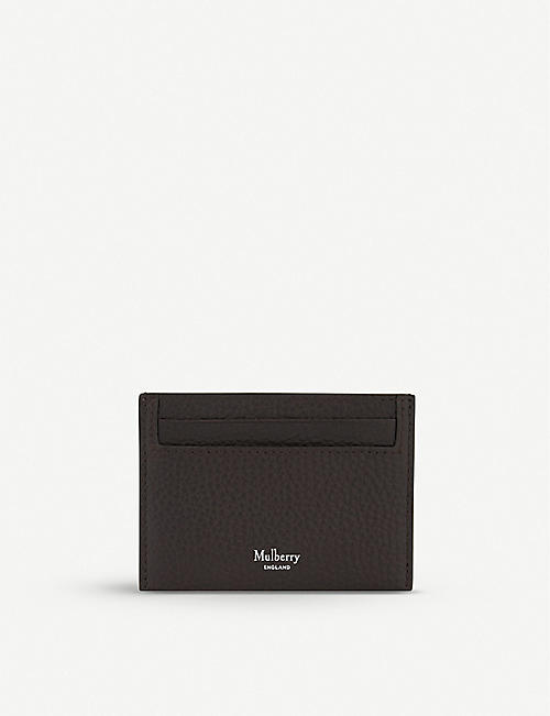 Cardholders wallets accessories mens selfridges shop online mulberry grained leather card holder reheart Image collections