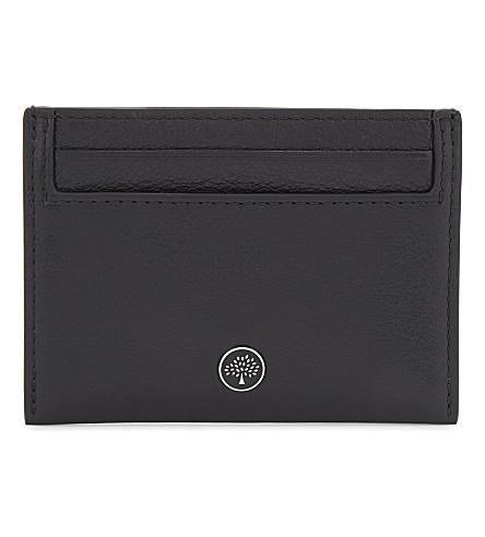 MULBERRY Logo leather card holder (Black