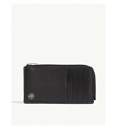 MULBERRY Pebbled leather card case (Black