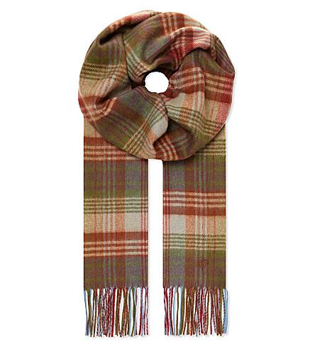 MULBERRY Check scarf (Multicolour