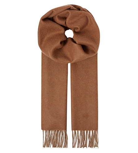 MULBERRY Reversible scarf (Camel