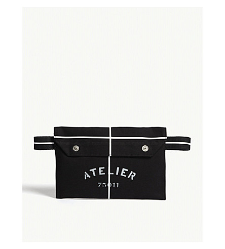 MAISON MARGIELA Cotton canvas belt pouch (Black