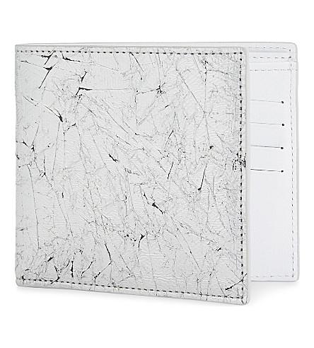 MAISON MARGIELA Vacchetta leather billfold wallet (Silver