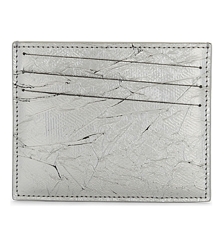 MAISON MARGIELA Vacchetta leather card holder (Silver