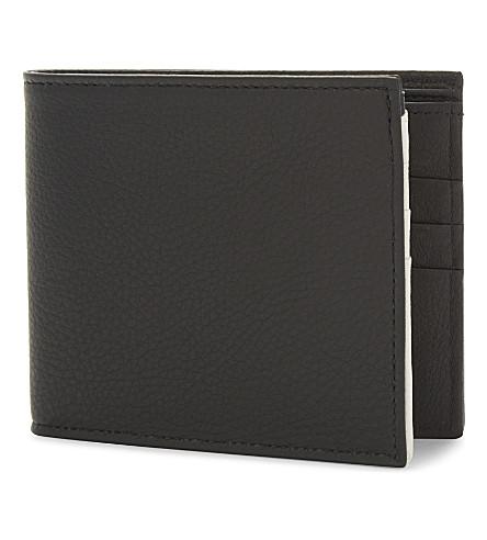 MAISON MARGIELA Soft grained leather billfold wallet (Black+white+chalk
