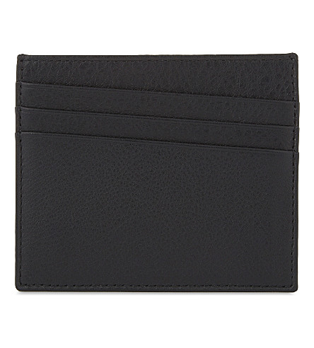 MAISON MARGIELA Two-toned soft grained leather card holder (Black+white+chalk