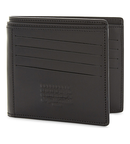 MAISON MARGIELA Imprint leather billfold wallet (Black
