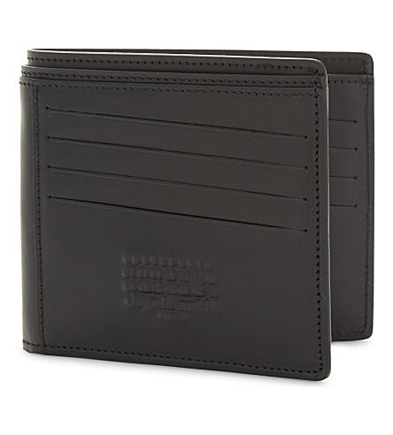 MAISON MARGIELA 印记皮革皮夹钱包 (黑色