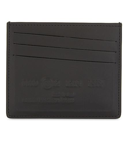 MAISON MARGIELA Imprint leather card holder (Black
