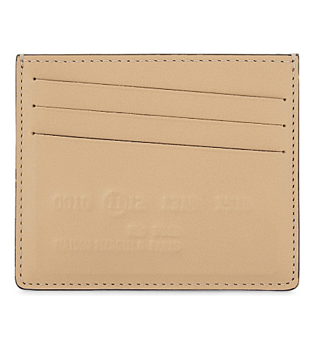 MAISON MARGIELA Imprint leather card holder (Natural