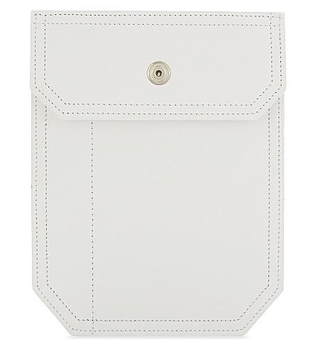 MAISON MARGIELA Leather pouch lanyard (White