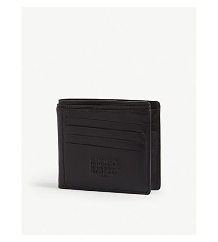 MAISON MARGIELA Embossed numbers leather wallet (Black