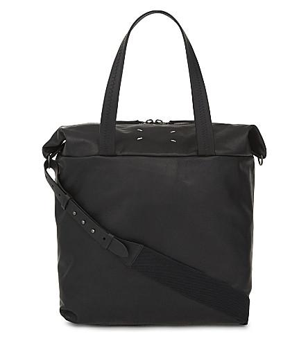 MAISON MARGIELA Embroidered leather holdall (Black